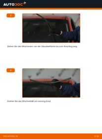 Wie der Wechsel durchführt wird: Scheibenwischer 1.6 Mazda 3 Limousine tauschen