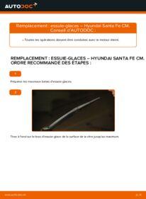 Comment effectuer un remplacement de Essuie-Glaces sur 2.2 CRDi 4x4 Hyundai Santa Fe cm