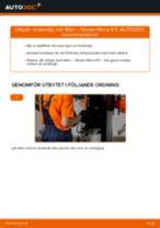 Hur byter man Stabstag bak höger Nissan Micra K10 - handbok online