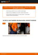 Ilmaiset ohjeet verkossa kuinka vaihtaa Öljynsuodatin NISSAN MICRA II (K11)