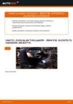 Kuinka vaihtaa jousijalan tukilaakeri taakse BMW E36-autoon – vaihto-ohje