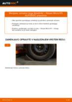 Brezplačna spletna navodila kako obnoviti Blažilnik NISSAN MICRA II (K11)