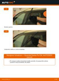 Kako izvesti menjavo: Metlica brisalnika stekel na 2.2 CRDi 4x4 Hyundai Santa Fe cm
