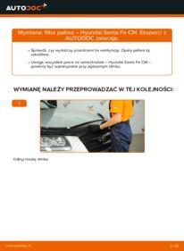 Jak przeprowadzić wymianę: Filtr paliwa w HYUNDAI SANTA FE