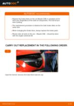 Changing Hand brake Cable MAZDA 3: workshop manual