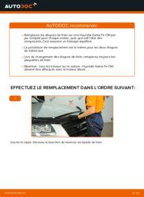 Comment effectuer un remplacement de Disques De Frein sur 2.2 CRDi 4x4 Hyundai Santa Fe cm