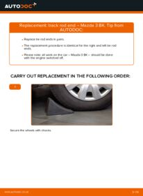 How to carry out replacement: Track Rod End on 1.6 Mazda 3 Saloon
