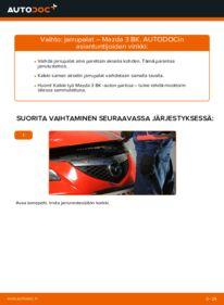 Kuinka vaihtaa Jarrupalat 1.6 Mazda 3 Sedan -autoon