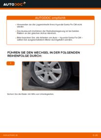 Wie der Wechsel durchführt wird: Radlager 2.2 CRDi 4x4 Hyundai Santa Fe cm tauschen