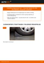 Mekanikerens anbefalinger om bytte av HYUNDAI Hyundai Santa Fe cm 2.2 CRDi GLS 4x4 Bærebru