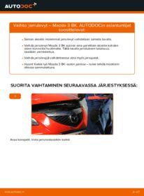 Kuinka vaihtaa Jarrulevyt 1.6 Mazda 3 Sedan -autoon