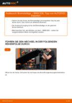 BMW Bremsbelagsatz hinten + vorne selber austauschen - Online-Bedienungsanleitung PDF