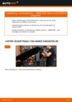 Hvordan skifter man og justere Bremseklods BMW 3 SERIES: pdf manual