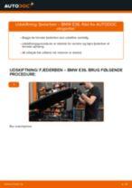 Hvordan skifter man og justere Fjäderben BMW 3 SERIES: pdf manual