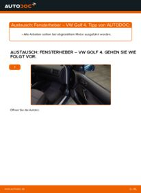 Wie der Wechsel durchführt wird: Fensterheber 1.4 16V Golf 4 tauschen