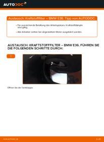 Wie der Wechsel durchführt wird: Kraftstofffilter 320i 2.0 BMW E36 tauschen