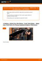 Ako vymeniť a regulovať Gumy stabilizátora BMW 3 SERIES: sprievodca pdf