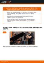 Πώς να αλλάξετε τακάκια φρένων πίσω σε BMW E36 - Οδηγίες αντικατάστασης