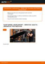 Samm-sammuline PDF-juhend Audi 80 b4 Luugiamordid asendamise kohta