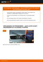Hoe ruitenwissers vooraan vervangen bij een Audi A4 B5 Avant – Leidraad voor bij het vervangen