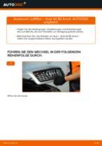 Hinweise des Automechanikers zum Wechseln von AUDI Audi A6 4f2 2.0 TDI Luftfilter