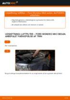 Udskift luftfilter - Ford Mondeo Mk3 sedan | Brugeranvisning