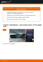Byta torkarblad fram på Audi A4 B5 Avant – utbytesguide