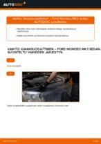 Kuinka vaihtaa ilmansuodattimen Ford Mondeo Mk3 sedan-autoon – vaihto-ohje