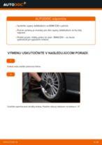 Ako vymeniť predné tyčky stabilizátora na BMW E36 – návod na výmenu