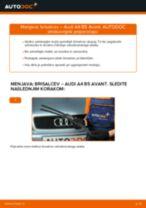 Kako zamenjati avtodel brisalce spredaj na avtu Audi A4 B5 Avant – vodnik menjave