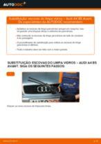 Como mudar escovas do limpa vidros da parte dianteira em Audi A4 B5 Avant - guia de substituição