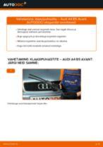 Kuidas vahetada Audi A4 B5 Avant esi-klaasipuhastite – õpetus