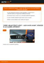 Elülső ablaktörlő lapát-csere Audi A4 B5 Avant gépkocsin – Útmutató