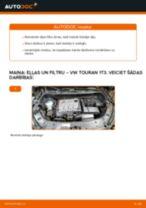 VW Touran 1T3: motoreļļas un filtra – nomaiņas rokasgrāmata
