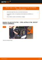 Opel Astra G F48: motoreļļas un filtra – nomaiņas rokasgrāmata