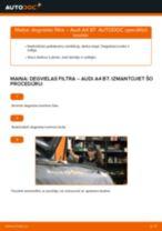 Audi A4 B7: degvielas filtra – nomaiņas rokasgrāmata