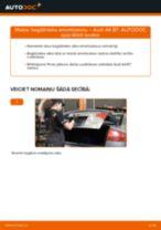 Audi A4 B7: bagāžnieka amortizatoru – nomaiņas rokasgrāmata