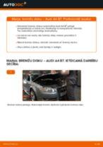 Audi A4 B7: aizmugurē bremžu diski – nomaiņas rokasgrāmata