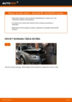 Audi A4 B7: aizmugurē bremžu kluči – nomaiņas rokasgrāmata