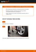 Audi A4 B7: aizmugurē amortizatoru – nomaiņas rokasgrāmata
