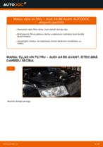 Audi A4 B6 Avant: motoreļļas un filtra – nomaiņas rokasgrāmata