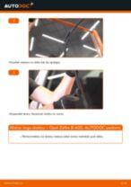 Opel Zafira B A05: priekšpusē logu slotiņu – nomaiņas rokasgrāmata