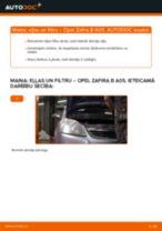 Opel Zafira B A05: motoreļļas un filtra – nomaiņas rokasgrāmata