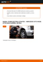 Kā nomainīt un noregulēt Savienotājstienis MERCEDES-BENZ VITO: pdf ceļvedis