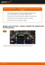 VW Passat 3C B6 Variant: priekšpusē logu slotiņu – nomaiņas rokasgrāmata