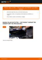 VW Passat 3C B6 Variant: motoreļļas un filtra – nomaiņas rokasgrāmata