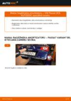 VW Passat 3C B6 Variant: bagāžnieka amortizatoru – nomaiņas rokasgrāmata