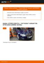 VW Passat 3C B6 Variant: stūres pirksta – nomaiņas rokasgrāmata