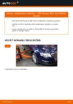 VW Passat 3C B6 Variant: priekšpusē stabilizatora atsaites – nomaiņas rokasgrāmata