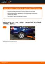 VW Passat 3C B6 Variant: aizmugurē atsperu – nomaiņas rokasgrāmata